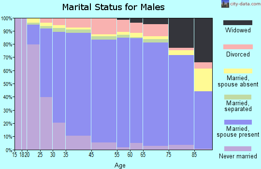McIntosh County marital status for males