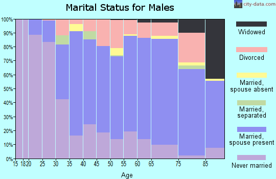 Whiteside County marital status for males