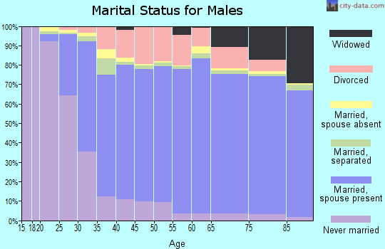 Woodford County marital status for males