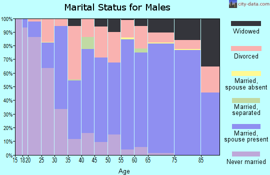 Bernalillo County marital status for males