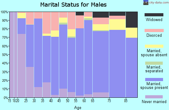 Kingfisher County marital status for males