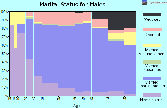 Walton County marital status for males
