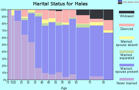 Live Oak County marital status for males