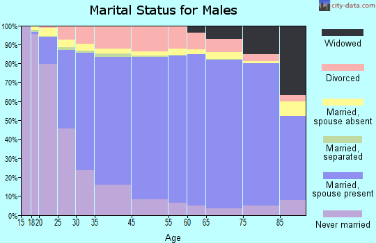 Whitfield County marital status for males