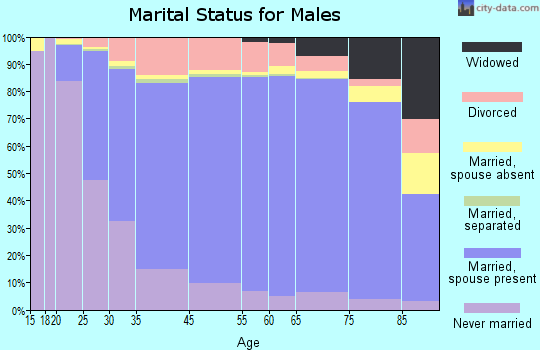 Panola County marital status for males
