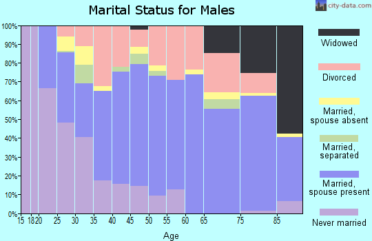 Kiowa County marital status for males
