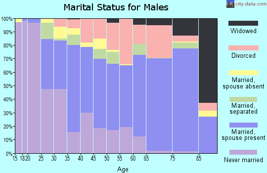 Haywood County marital status for males