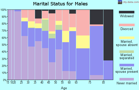Terry County marital status for males