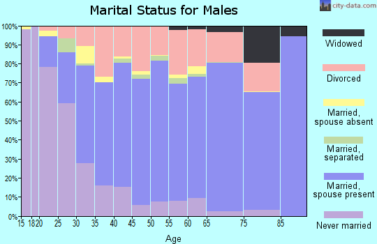 Fairfax city marital status for males