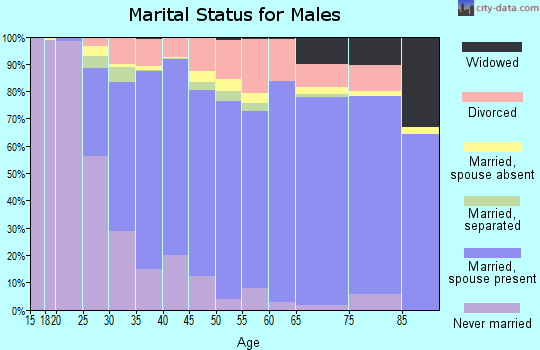 Merrimack County marital status for males
