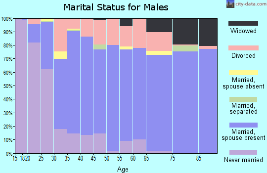 Crook County marital status for males