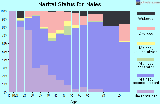 Beaufort County marital status for males