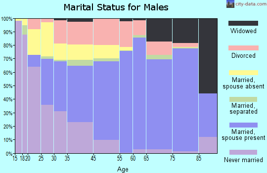 Grand Isle County marital status for males