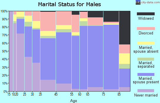 Mohave County marital status for males