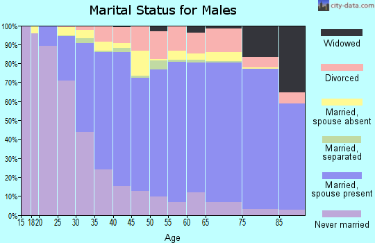 Madison County marital status for males