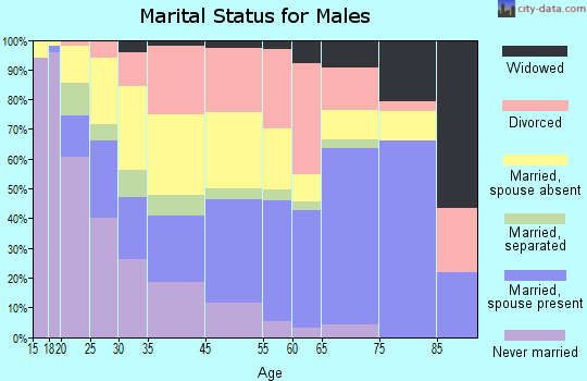 Berkeley County marital status for males