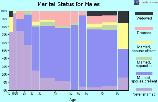 El Dorado County marital status for males