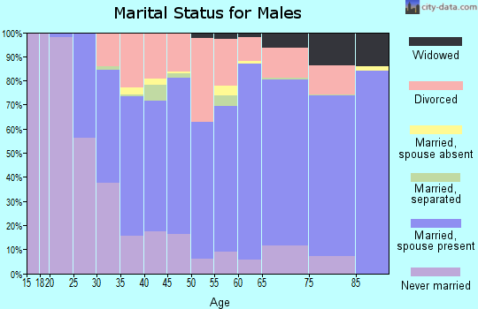 Wetzel County marital status for males