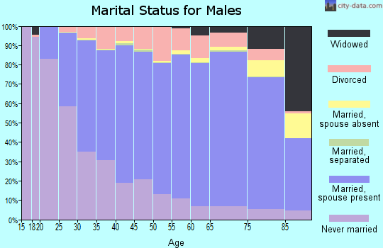 Otter Tail County marital status for males