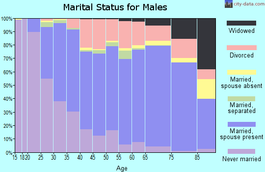 Accomack County marital status for males