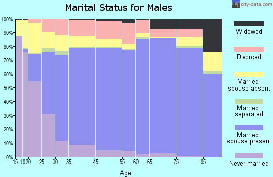 Calcasieu Parish marital status for males