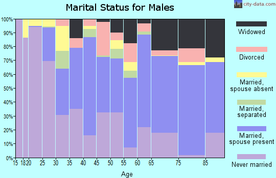 Charleston County marital status for males