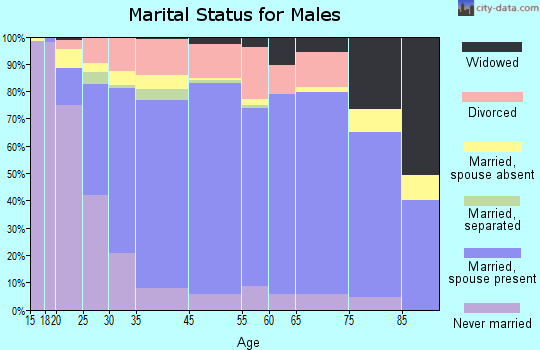 Chilton County marital status for males