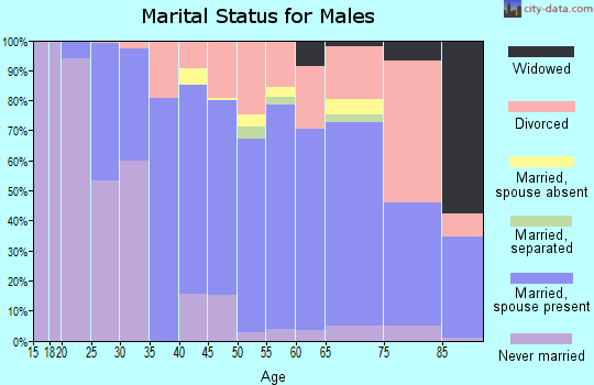 Baldwin County marital status for males