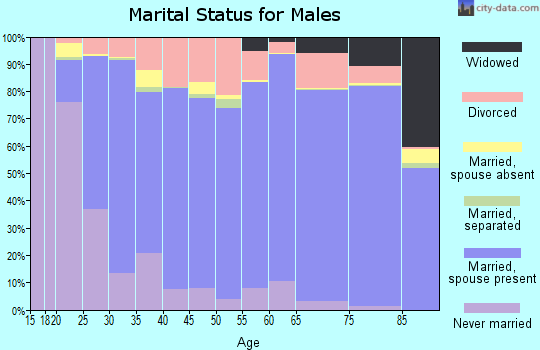 Buncombe County marital status for males