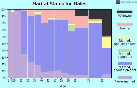 Cherokee County marital status for males