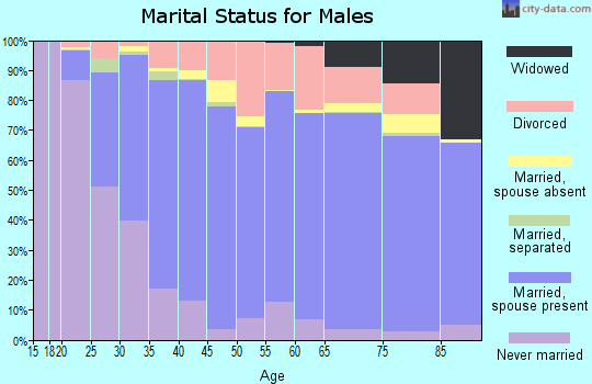Ashley County marital status for males
