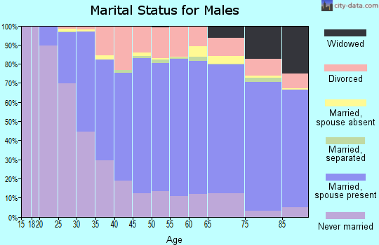Calhoun County marital status for males