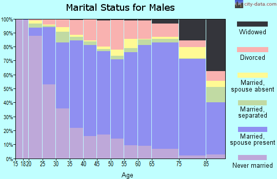 Anderson County marital status for males