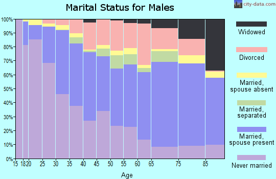 Roanoke city marital status for males