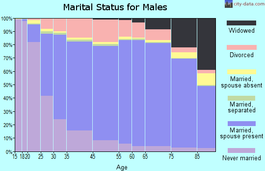 Clarendon County marital status for males