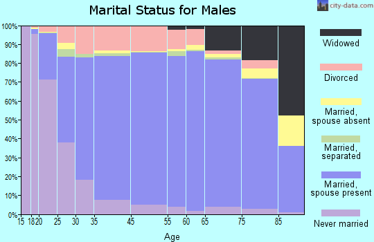 Kent County marital status for males
