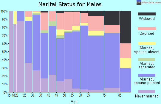 Anne Arundel County marital status for males
