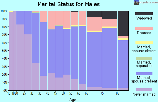 Camden County marital status for males