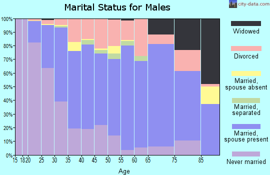 Chase County marital status for males