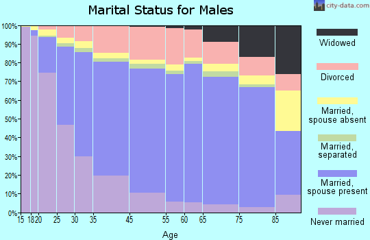 Berkshire County marital status for males