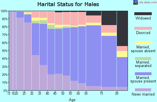 Bexar County marital status for males