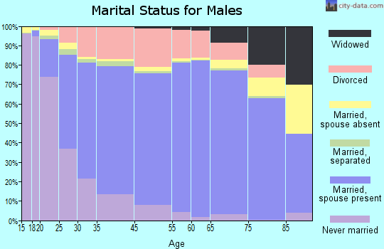 Door County marital status for males
