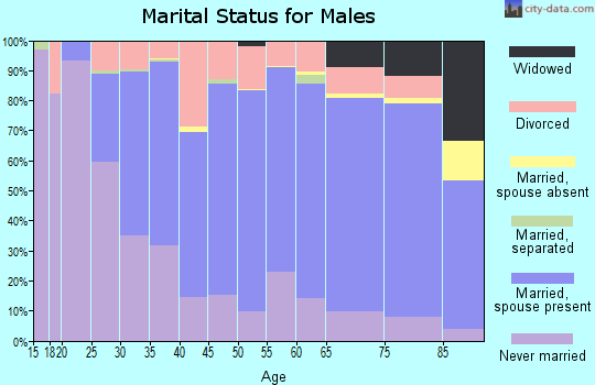 Cherry County marital status for males