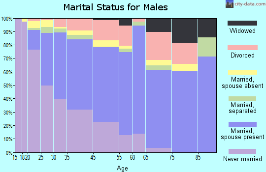 Andrew County marital status for males