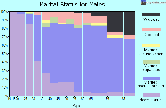Blanco County marital status for males