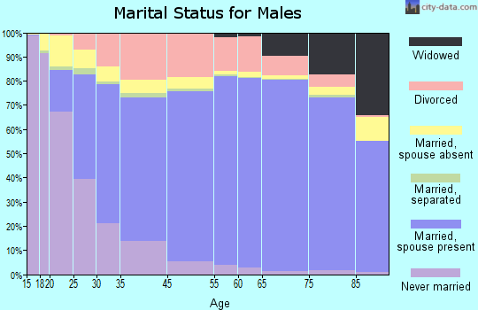 Piute County marital status for males