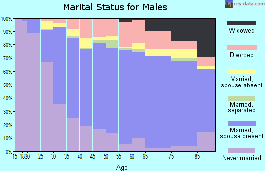 Alachua County marital status for males