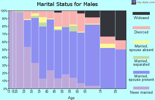Clay County marital status for males