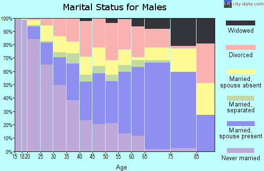 Barnes County marital status for males