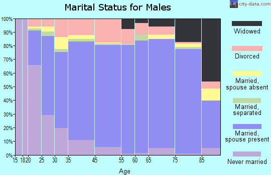 Bosque County marital status for males
